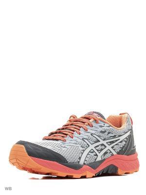 Спортивная обувь GEL-FujiTrabuco 5 ASICS. Цвет: розовый, серебристый, серый