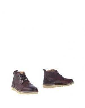 Полусапоги и высокие ботинки PEPE JEANS. Цвет: баклажанный
