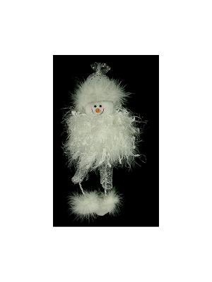 Новогодняя фигурка Снеговик Русские подарки. Цвет: серебристый, белый