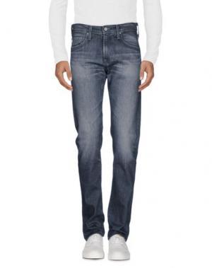 Джинсовые брюки AG ADRIANO GOLDSCHMIED. Цвет: свинцово-серый