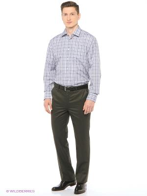 Рубашка мужская с длинным рукавом в клетку Mr. Marten. Цвет: серый