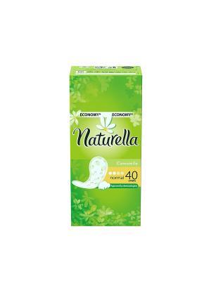 Ежедневные гигиенические прокладки на каждый день Camomile Normal Duo, 40шт. NATURELLA. Цвет: салатовый