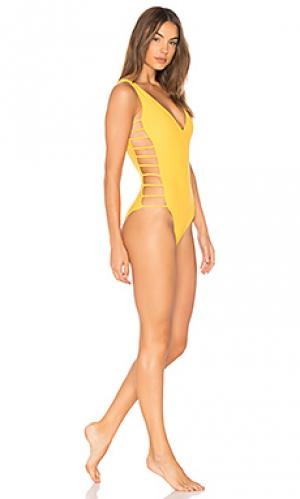 Слитный купальник avies Mia Marcelle. Цвет: желтый
