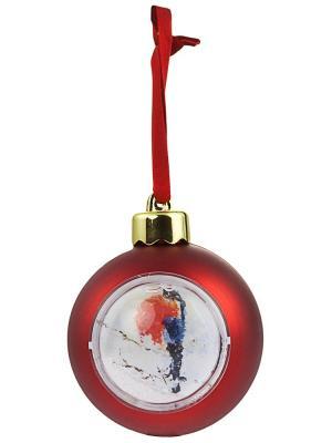 Елочный шар-шкатулка с фотовставкой Дерево Счастья. Цвет: красный