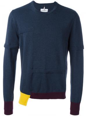 Джемпер с круглым вырезом Oamc. Цвет: синий