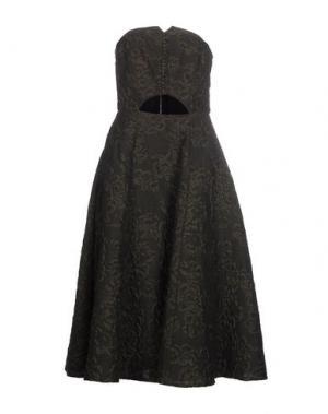 Платье до колена ERDEM. Цвет: зеленый-милитари