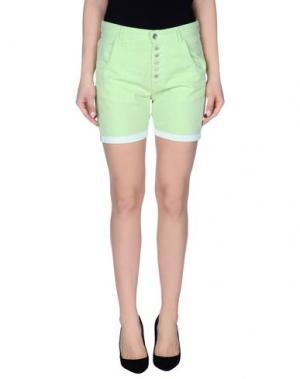 Повседневные шорты JCOLOR. Цвет: светло-зеленый