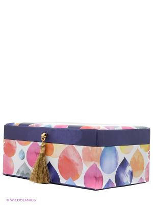 Шкатулка для бижутерии Михоко Kimmidoll. Цвет: синий, коралловый, белый