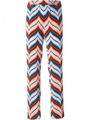 Прямые брюки с геометрическим принтом Kenzo. Цвет: красный