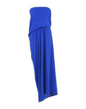 Длинное платье PINKO. Цвет: ярко-синий