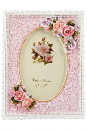 Фоторамка для фото 10x15 см Русские подарки. Цвет: розовый, белый