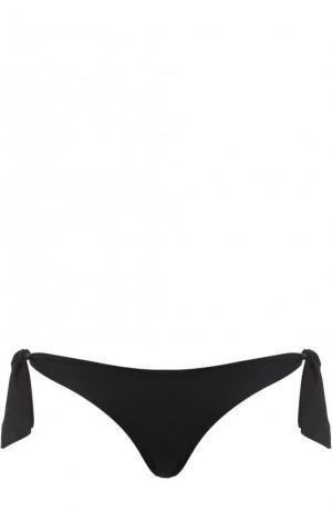 Однотонные плавки-бикини с бантами Ritratti Milano. Цвет: черный