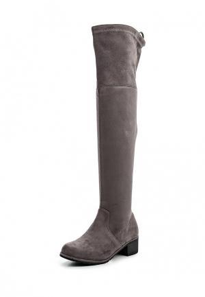 Ботфорты Sweet Shoes. Цвет: серый