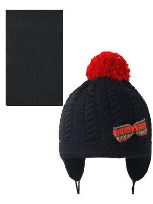 Шапка; шарф Acer. Цвет: черный