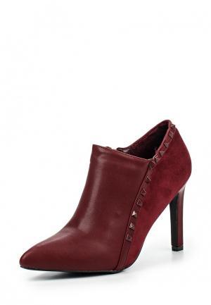 Ботильоны Max Shoes. Цвет: бордовый