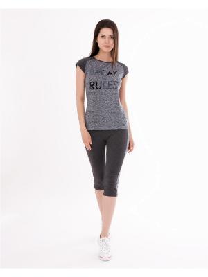 Комплект одежды: футболка, бриджи Mark Formelle. Цвет: антрацитовый, серый