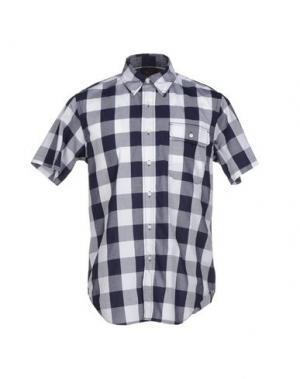 Pубашка WOOLRICH WOOLEN MILLS. Цвет: темно-синий