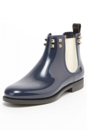 Ботинки MENGHI. Цвет: синий
