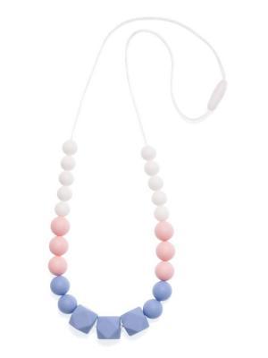 Слингобусы из пищевого силикона Гортензия iSюминка. Цвет: серо-голубой, белый, бледно-розовый
