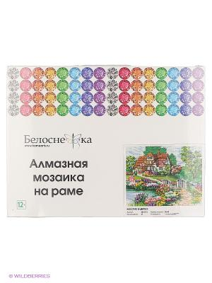 Мозаика на подрамнике. Мостик в цветах (254-ST-S) Белоснежка. Цвет: белый