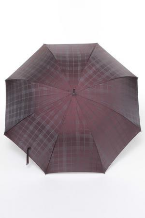 Зонт-трость Pasotti. Цвет: бордовый, клетка
