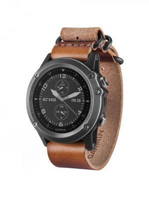 Умные часы Fenix 3 Sapphire серый с кожаным ремешком GARMIN. Цвет: серый