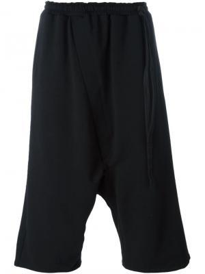 Укороченные брюки с заниженным шаговым швом Alchemy. Цвет: чёрный