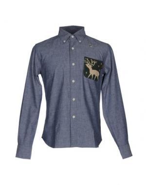 Pубашка HBNS. Цвет: синий