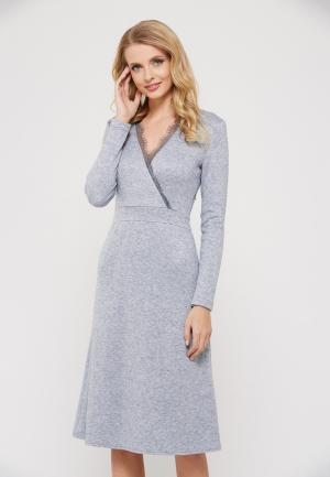 Платье Verna Sebe. Цвет: серый