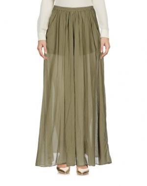 Длинная юбка EUROPEAN CULTURE. Цвет: зеленый-милитари