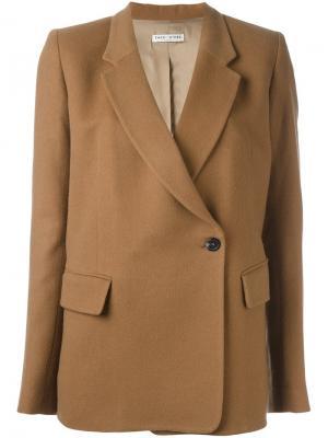 Однобортное пальто Each X Other. Цвет: коричневый