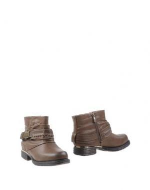 Полусапоги и высокие ботинки CHASSÈ. Цвет: темно-коричневый
