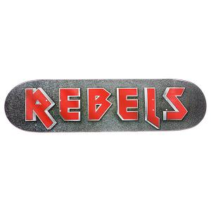 Дека для скейтборда  Logo Maiden 32 x 8.25 (21 см) Rebels. Цвет: серый