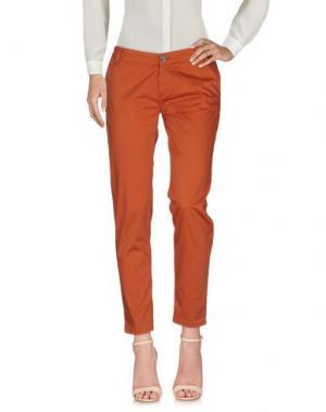 Повседневные брюки H2O ITALIA. Цвет: кирпично-красный