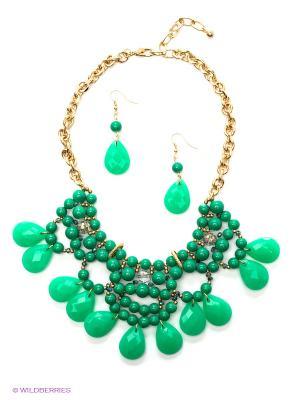 Комплект бижутерии Sonata. Цвет: зеленый