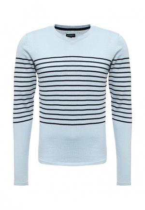 Пуловер Fresh Brand. Цвет: голубой