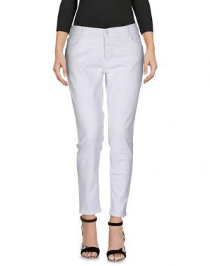 Джинсовые брюки PEOPLE LAB.. Цвет: белый