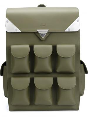 Рюкзак с несколькими отделениями Valas. Цвет: зелёный