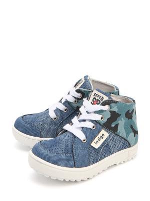 Ботинки Indigo. Цвет: голубой