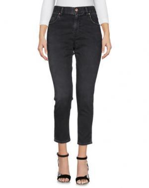 Джинсовые брюки MAISON CLOCHARD. Цвет: свинцово-серый