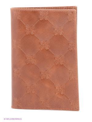 Обложка для паспорта Dimanche. Цвет: светло-коричневый