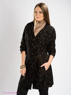 Пальто DORISStreich. Цвет: черный, светло-коричневый