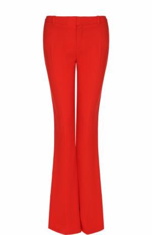 Расклешенные брюки со стрелками Givenchy. Цвет: красный