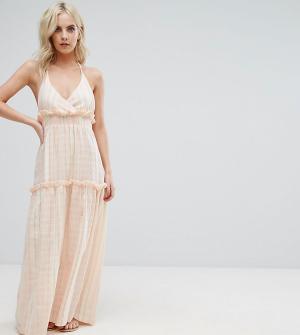 ASOS Petite Пляжное платье-премиум макси. Цвет: розовый