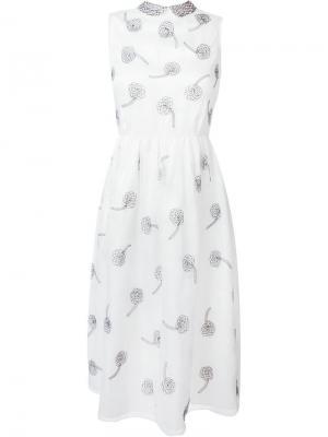 Платье с цветочной вышивкой Jupe By Jackie. Цвет: белый