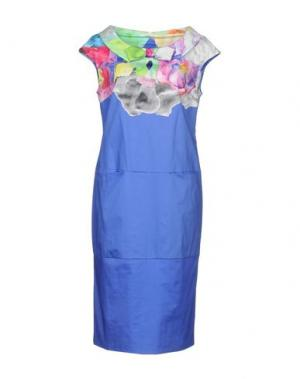 Платье до колена DIDIER PARAKIAN. Цвет: синий