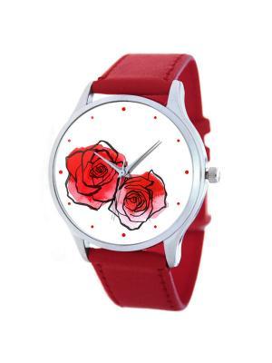 Часы Цветы Tina Bolotina. Цвет: красный