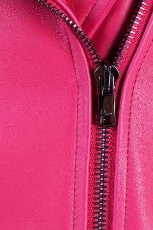 Стеганая кожаная куртка Dior Children. Цвет: розовый