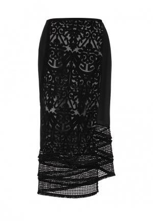 Юбка Sisley. Цвет: черный
