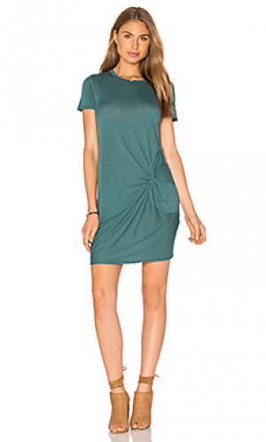 Мини платье с узлом Stateside. Цвет: зеленый